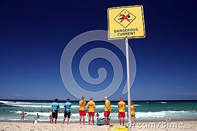 Lifeguards Editorial Stock Image