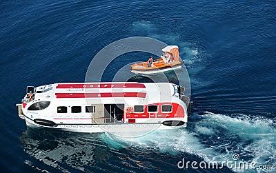 Lifesaving operation at sea Editorial Image