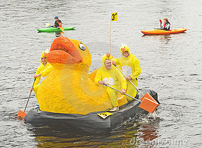 Lifescan Duck me team on the river Ness. Editorial Image
