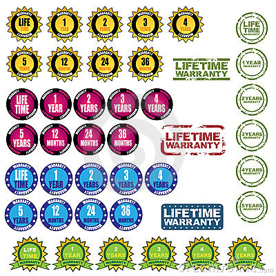 Lifetime warranty icons