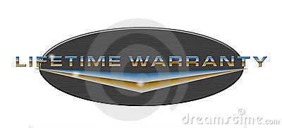 Lifetime warranty button