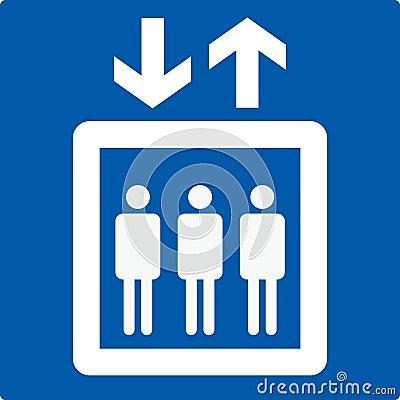 LIFT elevator sign