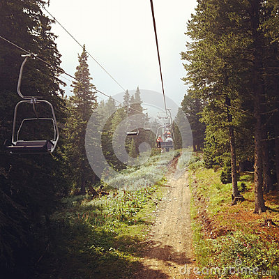 Lift in the forest