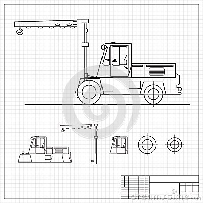 Lift truck blueprint