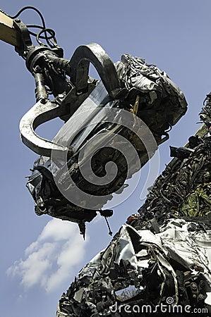 Lifted scrap car