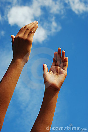 Lifting hands Stock Photo