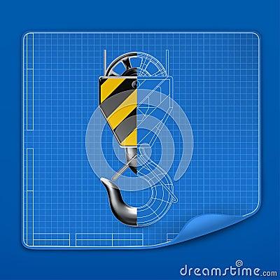 Lifting hook drawing blueprint