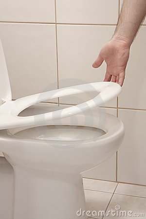 Lifting up toilet seat