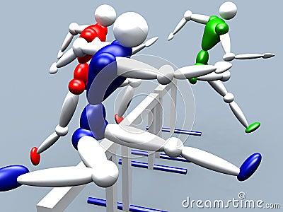 Ligações em ponte do obstáculo