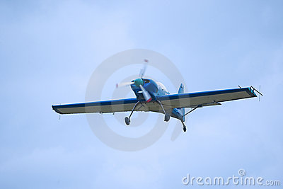 Light aircraft in flight