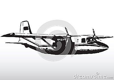 Light aircraft in flight