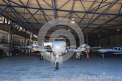 Light Aircrafts Planes Hanger Editorial Photography