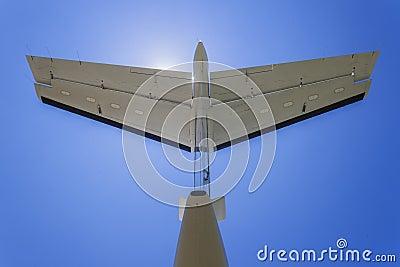 Light Aircraft Tail Blue