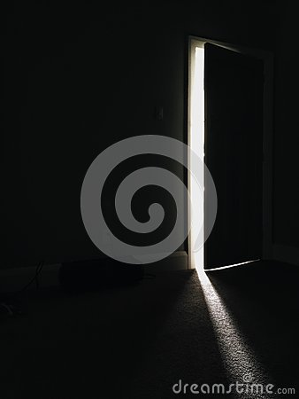 Free Light And Shadow Through An Open Door Royalty Free Stock Photography - 80211787