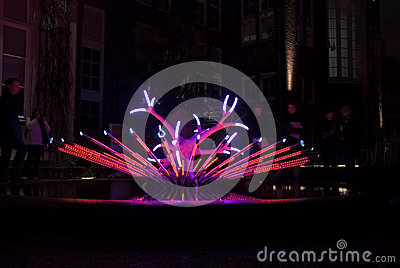 Light art work Editorial Stock Image