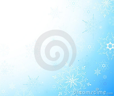 Light background with snowflakes