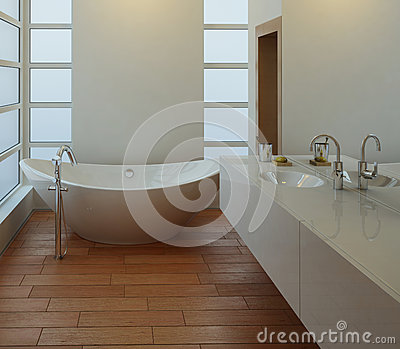 Light bathroom interior