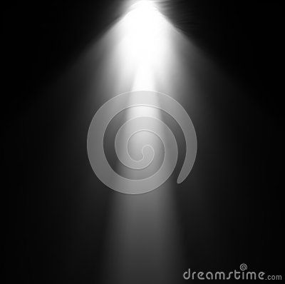 Free Light Beam From Projector. Vector Illustration Royalty Free Stock Photo - 31537005