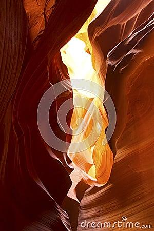 Light Beams in Slot Canyon