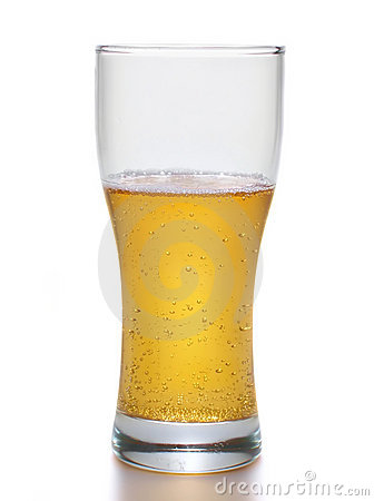 Light beer within big mug