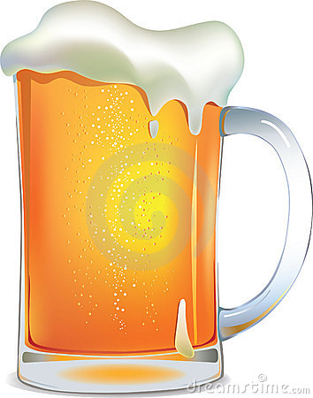 Light beer mug