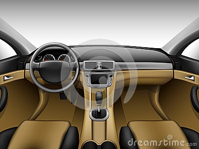 light beige leather car interior royalty free stock image image 37083896. Black Bedroom Furniture Sets. Home Design Ideas