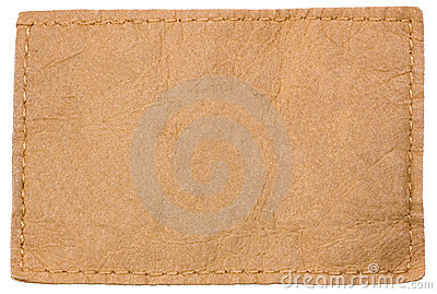 Light blank leather jeans clothing label tag royalty free for Blank label clothing