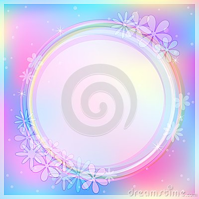 Light Blue Abstract Card with Round Label