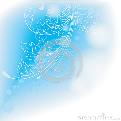 Light blue background with leaves.