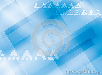 Light blue background with symbols - vector