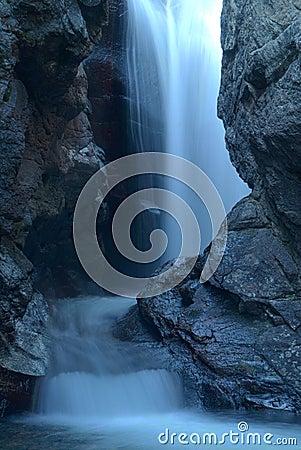 Light blue cascade