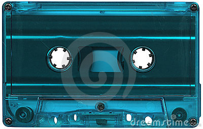 Light blue cassette tape