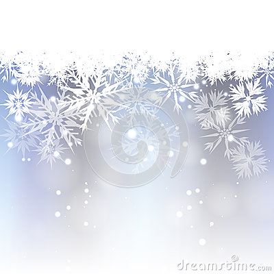 Light Blue Christmas Background