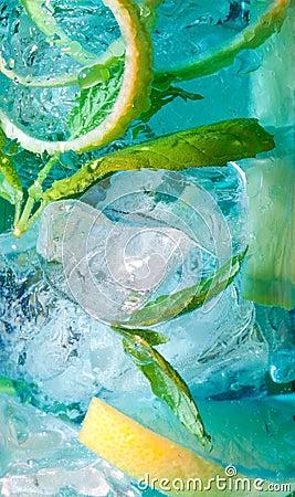 Light blue cocktail macro