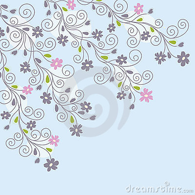 Light blue floral background
