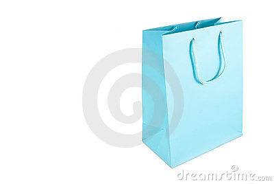 Light blue gift bag