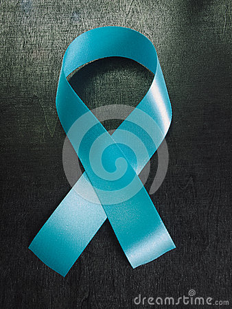 Free Light Blue Ribbon As Symbol Of Prostate Cancer Awareness. Stock Images - 68525684