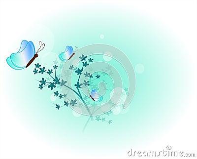Light blue spring background