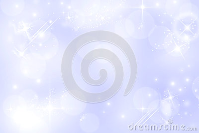 Light blue starry bokeh background