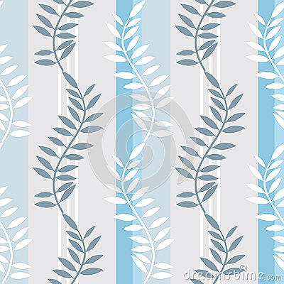 Light blue striped foral pattern