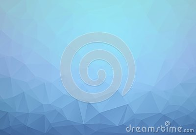 Light BLUE vector abstract textured polygonal background. Blurry triangle design. Pattern can be used for background Vector Illustration