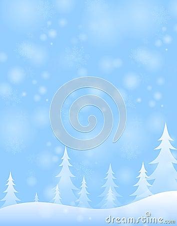 Free Light Blue Winter Snow Scene Stock Photos - 7288673