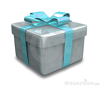 Light blue Wrapped gift 3D