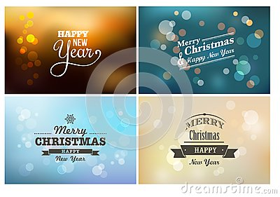 Light bokeh, magic Christmas lights - backgrounds