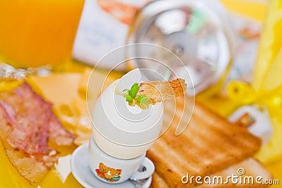 Light breakfast on the table