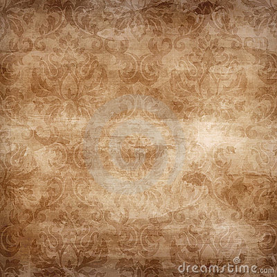 Light Brown Damask Seamless