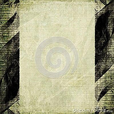 Light brown paper grunge black frame