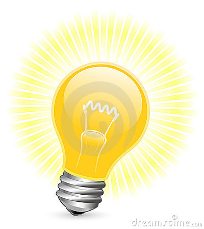 Light bulb with beams