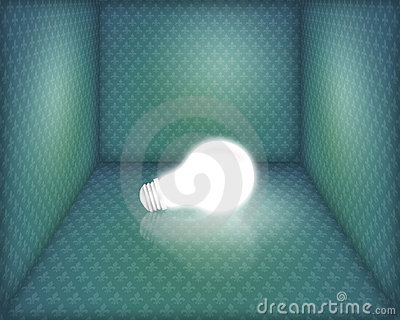 Light bulb in box