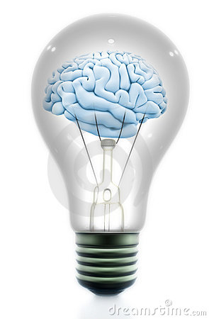 Light bulb with a brain